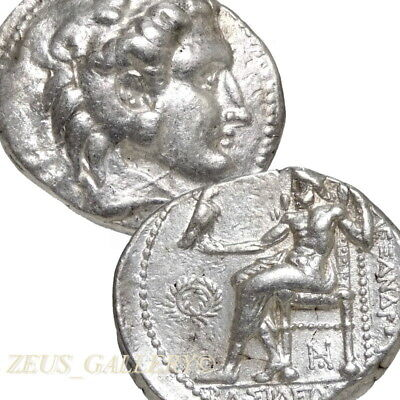 ALEXANDER the GREAT Tetradrachm Phoenicia Rare Large Ancient Greek Silver Coin