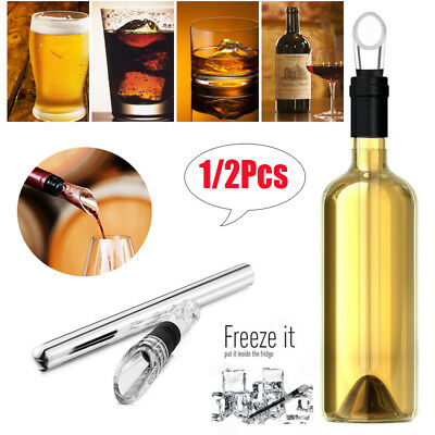 2 in 1 Stainless Steel Red Wine Aerator Chiller Rod Stick Cooler Pouring Spout