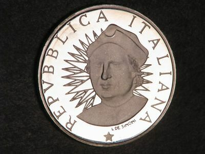 ITALY 1991R 500 Lire Mapped Scroll Silver Proof