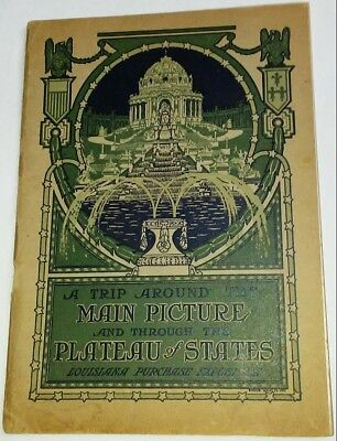 "Rare 1904 Louisiana Purchase Expo Booklet ""The Main Picture & Plateau of States!"