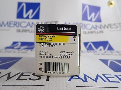 CR115B2 Limit Switch GE 1 NO 1 NC 600V  New in Box