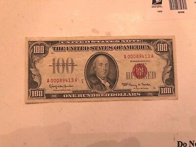 Fr. 1550 1966 $100 One Hundred Dollars Legal Tender United States Note Vf+/xf