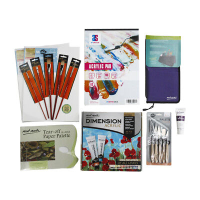 Acrylic Paint Essential Starter Kit - 52 pieces