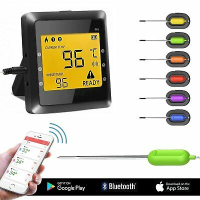 Wireless Meat Thermometer, BUKELERN Digital Bluetooth BBQ Thermometer Iphone APP