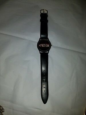 1994 Steak And Shake Promotional Advertising Wrist Watch Leather Band