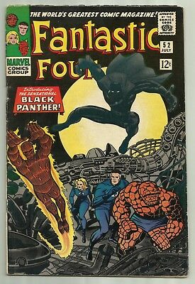 Fantastic Four #52 Marvel 1966 Kirby Cover 1st App of The Black Panther