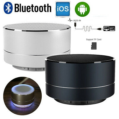 Bluetooth Lautsprecher Mini Speaker für iPhone iPod iPad Samsung tragbar mit LED