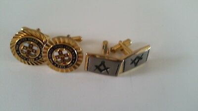 Masonic Cuff links Excellent Condition
