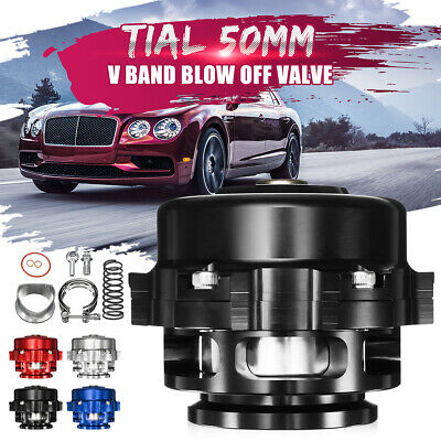 Universal 50mm Aluminum Turbo Intercooler Boost Bov Blow Off Valve V-Band Clamp