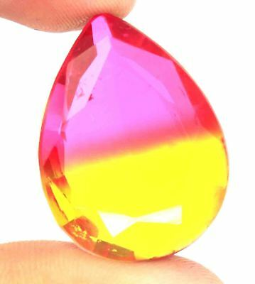 49.60Ct EGL Certified Multi Color Ametrine Attractive Pear Shape Gemstone BY1901