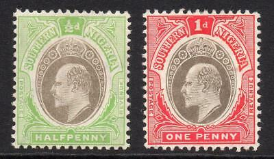 Southern Nigeria 2 Stamps c1904-09 Mounted Mint (753)