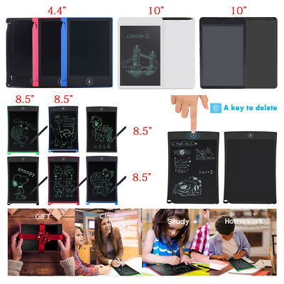 """4.4 8.5 10"""" LCD Writing Paperless Memo Pad Tablet Writing Drawing Graphics Board"""