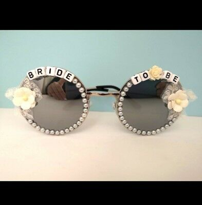 Bride To Be Sunglasses Hen Party Novelty Handmade Classy Bachelorette Gift