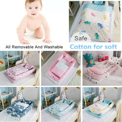 Baby Cocoon Infant Sleep Nest Coushion Bed Soft Insert Removable Pillow Quilt