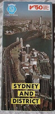 Vintage 1982 NRMA Sydney and District Tourist Map