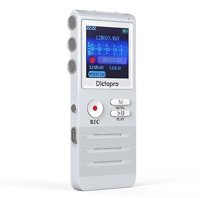 Dictopro X100 Digital Voice Activated Recorder Dictaphone with Double Microphone