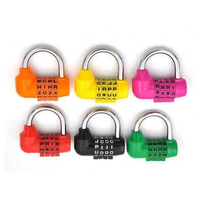 Letter Code Dial Combination Suitcase Luggage Diary Password Lock Padlock MUHWC