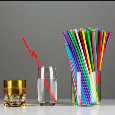 100pcs  Flexible Straws Disposable Extra Long Bendable Plastic Drinking Straw 6A