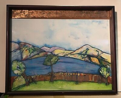 """Very Nice, Colourful & Unique Scottish Abstract - """"Wide View"""" Scottish Landscape"""