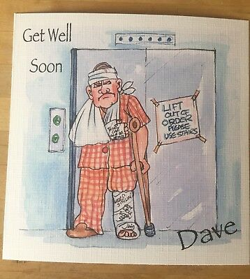 Handmade Personalised Witty Funny Old Man Get Well Card 2 25
