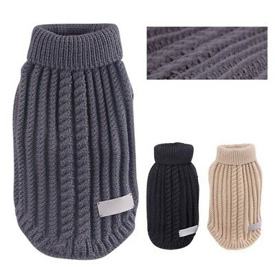 Pet Dog Knitted Sweater Clothes Puppy Winter Coat Jacket Knitwear Jumper Apparel