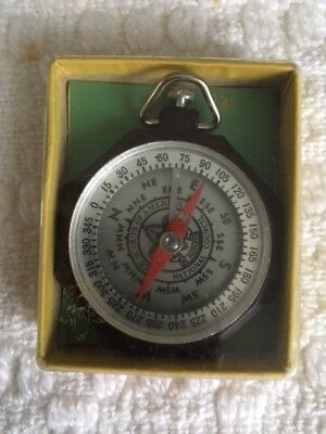 Vintage Taylor Official Boy Scout Bar Needle Compass No.1075 - Original Box
