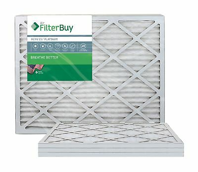 FilterBuy 24x30x1 MERV 13 Pleated AC Furnace Air Filter, (Pack of 4 Filters),