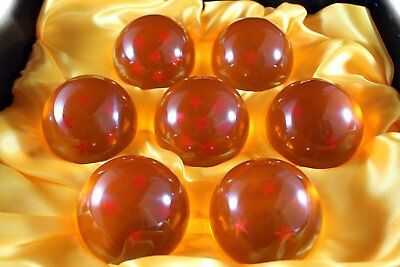 New DragonBall Z Stars Crystal Glass Ball 7pcs with Gift Box, LARGE 76MM in