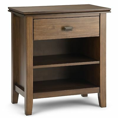 Simpli Home Artisan Solid Wood 72 Tv Media Stand Natural Aged