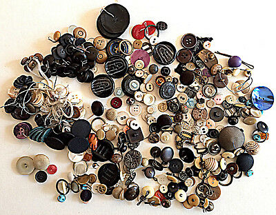 A Large Collection Of Vintage Buttons