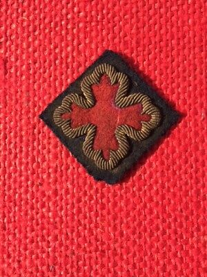 "Civil War Officers Embroidered 18 Corps 1st Division Kepi Cloth  insigina  ""REDU"