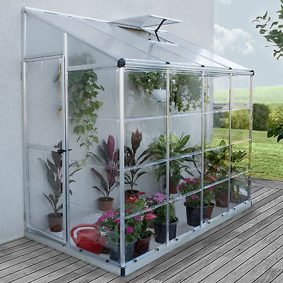 Palram Nature 4 Ft. W x 8 Ft. D Lean-To Greenhouse