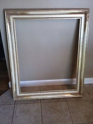 VTG Antique HUGE Large Wood Carved GOLD Ornate Painting Frame Landscape Portrait