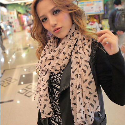New Fashion Women Ladies Little Cat Long Soft Wrap Scarf Shawl Wrap Scarves Gift