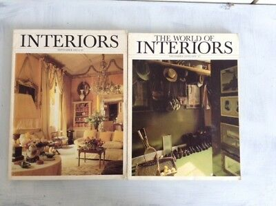 The World Of Interiors: 24 used magazines from the 1980s