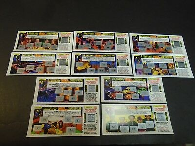 DICK TRACY 1990 Rare McDonalds Collectibles Crimestoppers Unscratched Game Cards