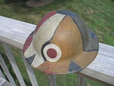 US WWI AEF Army 37th Infantry Buckeye Division Camo Helmet - Original Complete
