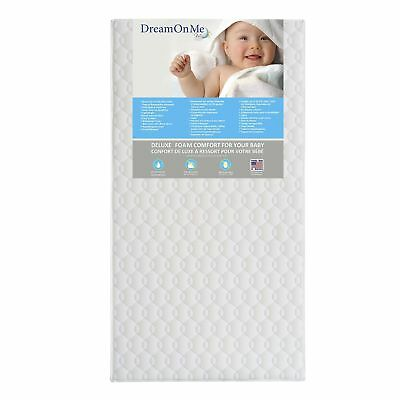 Dream On Me Full Size Firm Foam Crib and Toddler Bed Mattress, Carousel, 6""
