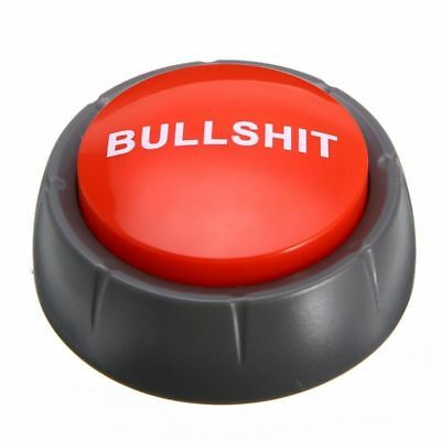 Sound Bullshit Talking Button Cheeky Adult Funny Gag Novelty Party Kids Toy Gift