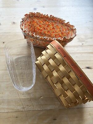 Longaberger Package - Candy Corn Basket w Liner and Protector! Good condition!