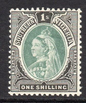 Southern Nigeria 1/- Stamp c1901-02 Mounted Mint SG6