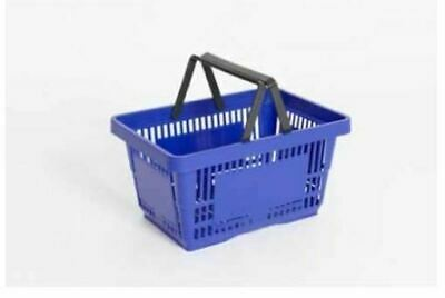 Blue 21 Litre Plastic Shopping Basket for supermarkets and convenience stores