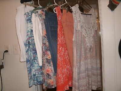 Women's Plus Size Lot Of Shorts And Tanks Various Brands Size 3X Good Condition