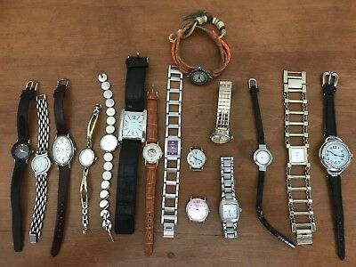 Vintage Watches: Ladies Lot of 16, All Run, Many Brands