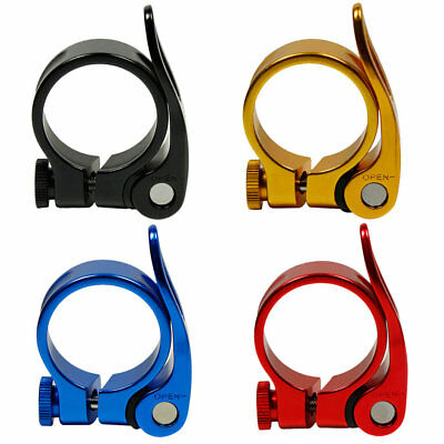 Road Bike MTB Seat Post Clamp  Cycling Saddle Quick Release Alloy 34.9mm ZY