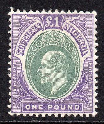 Southern Nigeria One Pound Stamp c1904-09 Mounted Mint