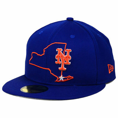 official photos 02540 3dfe3 ... discount new york mets mlb states 59fifty cap hat flat bill brim fitted  metropolitans ny 8017f