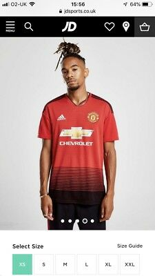 Brand New With Tags Manchester United Home Shirt 2018/19 XS Teenager Adult MUFC