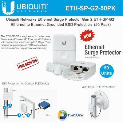 Ubiquiti Ethernet Surge Protector Gen 2 ETH-SP-G2 Outdoor High-Speed (50 Pack)