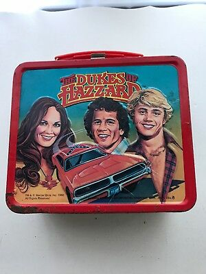 The Dukes Of Hazzard  Metal Lunch Box  Dated 1980